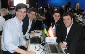 Los cuatro integrantes del equipo español