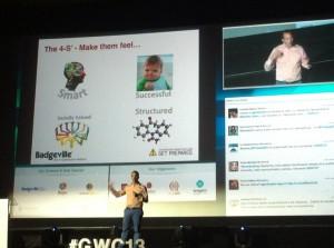 lacatedral Haz sentir a tus usuarios listos, exitosos, socialmente valiosos y estructurados @schnaars #GWC13 pic.twitter.com/4vxWXiQoXu