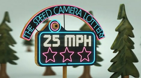 Speed camera lottery, un juego que salva vidas